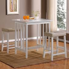 three piece dining set: home sonata white dining set  piece