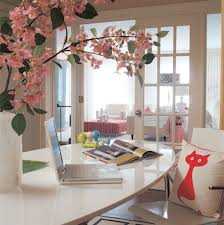 chic home office decor: gallery bonnie bakhtiaris pink and chic home office office tour sayeh throughout girly home office regarding invigorate
