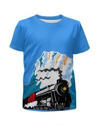 """Детские футболки c уникальными принтами """"<b>локомотив</b>"""" - <b>Printio</b>"""