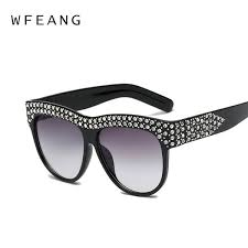 <b>WFEANG</b> Oversized <b>Square</b> Sunglasses Women Designer Brand ...