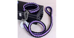 <b>Two</b>-<b>color collar eight</b>-<b>strand</b> rope P chain pet leash large medium ...