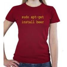 sudo apt-get install beer - t-<b>shirt</b> for <b>linux</b> fans, who also love beer ...