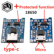 <b>1PCS Great IT 5V</b> 1A Micro USB 18650 type c Lithium Battery ...