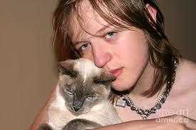 0. Affectionate Teen And Cat Photograph - affectionate-teen-and-cat-susan-stevenson