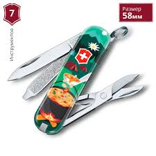 <b>Нож</b>-<b>брелок</b> VICTORINOX <b>CLASSIC SWISS MOUNTAIN</b> DINNER ...