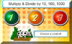Αποτέλεσμα εικόνας για πολλαπλασιασμος και διαιρεση με το 10, 100 και 1000
