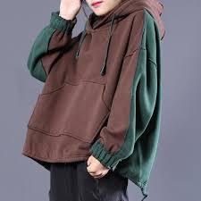 Loose Casual Colorblock Split Hooded <b>Sweatshirt</b> | <b>Женские</b> ...