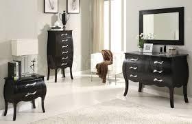 emily bedroom set light oak: elegant black bedroom suite mirror dresser emily storage bedroom