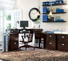 bedford corner desk set pottery barn bedford shaped office desk