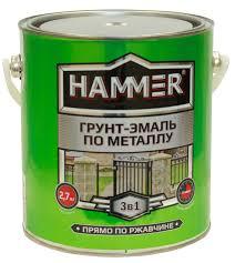 Купите <b>Грунт</b>-<b>эмаль по металлу HAMMER</b> light с доставкой и ...