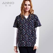 <b>ANNO Medical Clothing</b> Cotton Blue <b>Medical Scrubs</b> Short Sleeves ...