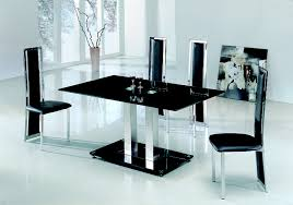 Black And White Kitchen Table Dining Table And Chairs Glass Dining Table Modenza Furniture