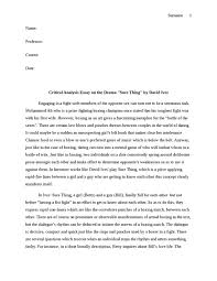 critical analysis essay on the drama quotsure thingquot by david ives  critical analysis essay on the drama quotsure thingquot by david ives essay example