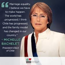 Outspoken marriage supporter Michelle Bachelet elected president ... via Relatably.com