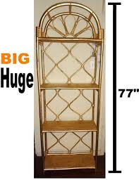images hollywood regency pinterest furniture: hollywood regency bamboo etagere book shelves mid century modern wicker rattan