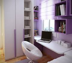 Furniture Amazing Teen Room Designs Nuanced In Cute Purple And Equipped With Floating Computer Desk  L