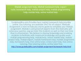 Matlab assignment help  Matlab homework help  expert tutor  homework