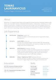 minimal resume template bies fribly