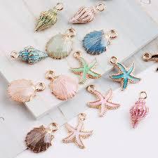 MRHUANG <b>10pcs Coloful Nautical Ocean</b> starfish Shell Conch Sea ...