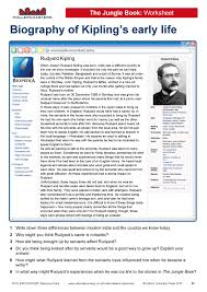 introduce your students to rudyard kipling this introduce your students to rudyard kipling this worksheet ideal for year 8 students