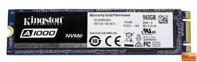<b>Kingston A1000 960GB</b> PCIe NVMe SSD Review - Legit ...