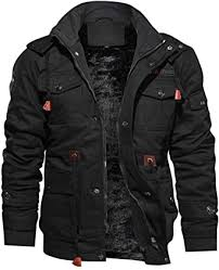 TACVASEN <b>Men's Jacket</b>-Casual Winter <b>Cotton</b> Military <b>Jacket</b> ...