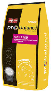 <b>Корм для собак</b> ProBalance (15 кг) Immuno Adult Beef — купить и ...