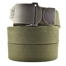 Meta-U- Canvas Belt- Web Belt- <b>Military</b> Style- Zinc Alloy Buckle ...