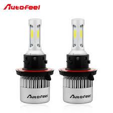Autofeel <b>H13 9008</b> Led Headlight Bulbs Kit COB Hi Lo Beam ...