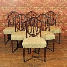 hepplewhite shield dining chairs set: set of  hepplewhite revival dining chairs cth london fine antiques