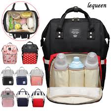 lequeen fashion mummy maternity diaper bag large nursing travel backpack designer stroller baby nappy 32 style