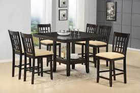 tabacon counter height dining table wine: counter height gathering table w wine rack