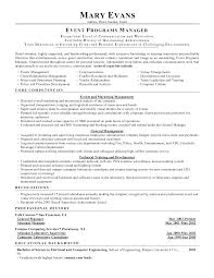 resume examples event planner how to write cover letter for resume examples event planner