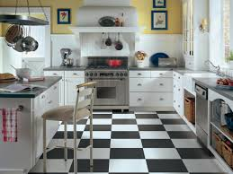 Kitchens Floors Decorative Ceramic Tile Flooring With Black And White Paint Color