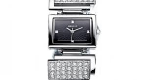 Buy WEIQIN Square <b>Silver Full Diamond</b> Bracelet Ladies Watch ...