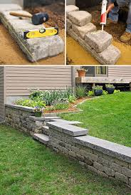Small Picture Cool little built in steps and retaining wall retaining wall