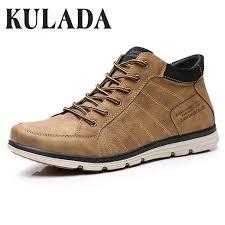 Online Shop <b>KULADA</b> 2019 Men's Shoes Leather Spring&Autumn ...
