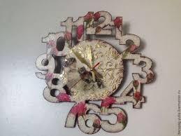 Настенные <b>часы</b> 'Розы' | Clock, Diy clock, <b>Wall clock</b>