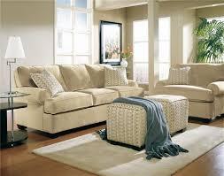 cream couch living room ideas:  living room old stanley home interior design idea living room cream sofas pouffes rug ideas