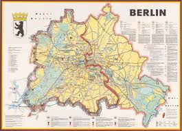 berlin a cold war map showing the berlin wall as a bricked up berlin a cold war map showing the berlin wall as a bricked up barrier