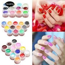 SK  <b>12</b>/16 Pcs Mix <b>Colors Glitter</b> Acrylic UV Gel Builder <b>Professional</b> ...