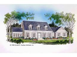 Cape Cod House Plan   Square Feet and Bedrooms from    Front