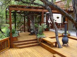 backyard decks choosing the best brown set patio source outdoor