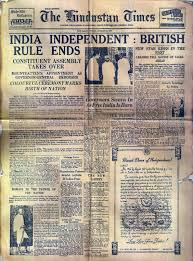 how n newspapers reported independence and partition in
