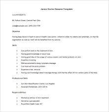 Doctor Resume Template         Free Word  Excel  PDF Format Download     Template net Junior Doctor Resume in MS Word Downlaod