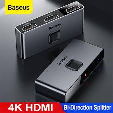<b>Baseus Hdmi Splitter 4K</b> Hdmi Switch Adapter Hdmi Switcher 2 In 1 ...