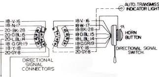 electrical help 1963 66 trun signal plug wiring 18 v 16 violet is the flasher feed to the switch 18 n 17 natural is the power feed from the brake light switch