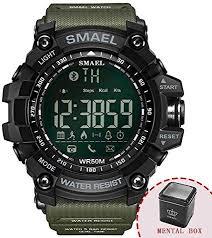 Kbj-accessory <b>Digital Wristwatches Waterproof</b> Black <b>SMAEL</b> ...