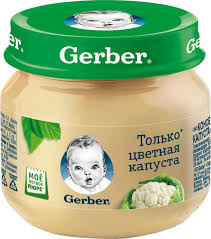 <b>Пюре</b> овощное Gerber Только <b>цветная капуста</b>, первая ступень, 80 г