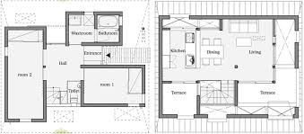 HouseAA in Nara City Features A Roof Designed For PrivacyHouseAA   Small House   Moca Architects   Nara City   Floor Plan   Humble Homes